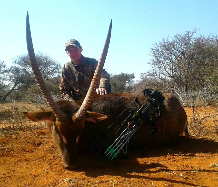 Picture of South Africa Troy Hawkins with his Waterbuck