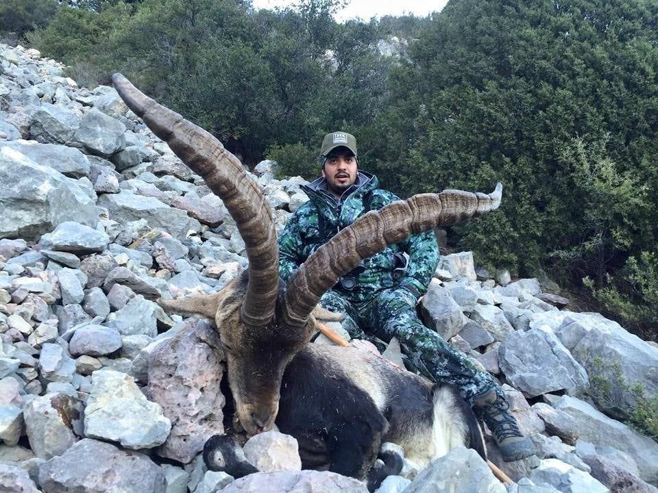 Khalid with his Beceite Ibex