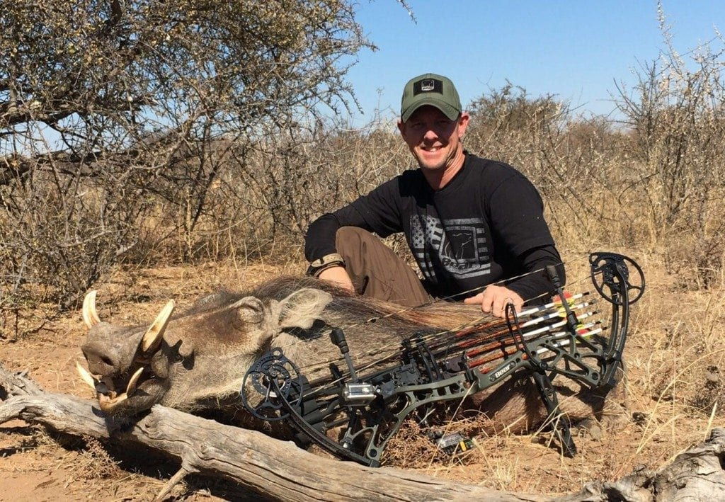 Barry with his warthog taken with the bow