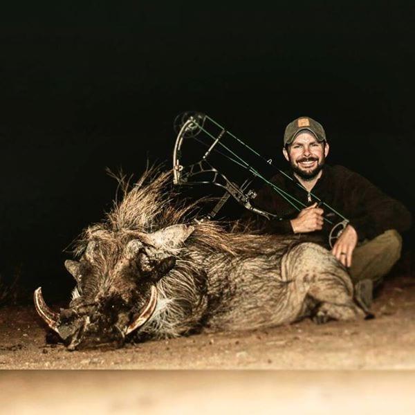 Jonathan with his warthog