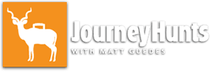 Orange & white Journey Hunts with Matt Guedes Logo