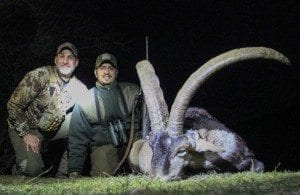 Picture in Spain of Matt Guedes with Khalid Sultan the Bedouin Hunter
