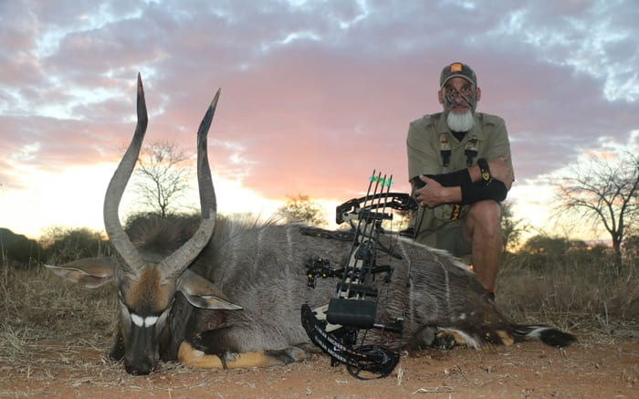 His Spiral Slam completed the author will make a full body mount of this life-time trophy Nyala.