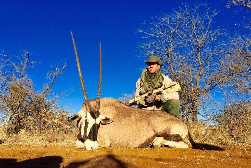 A long Gemsbok Bull taken by Jason