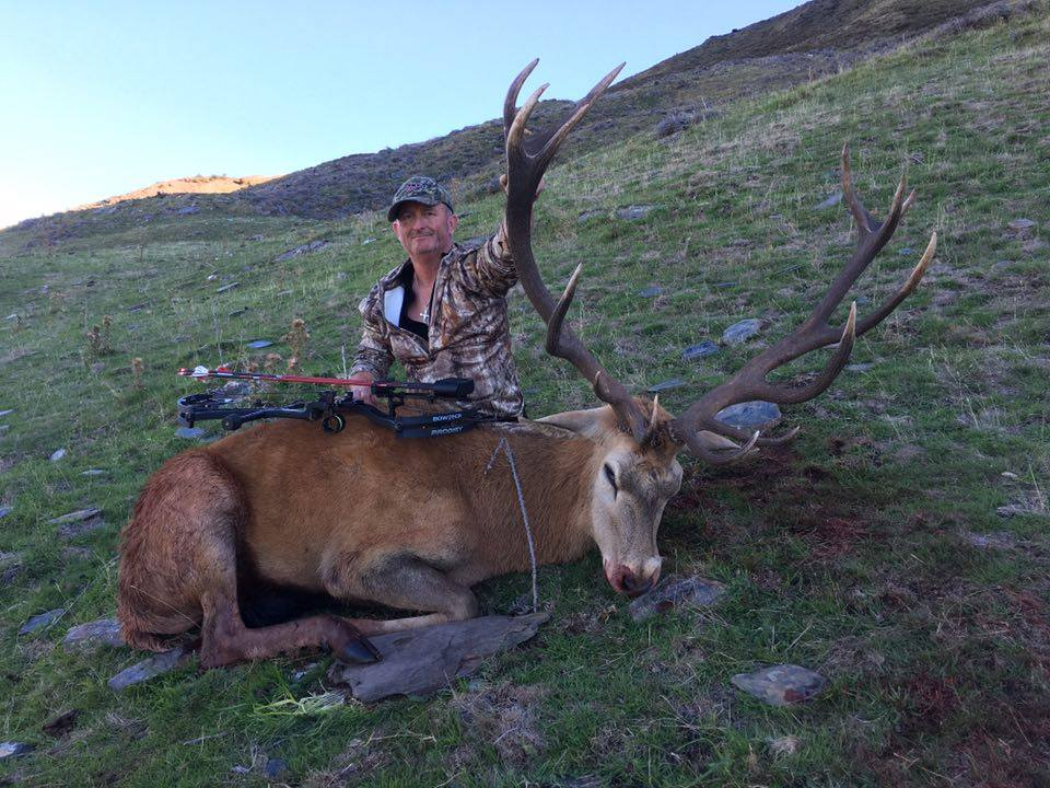 Fred with his traditional gear Red Stag