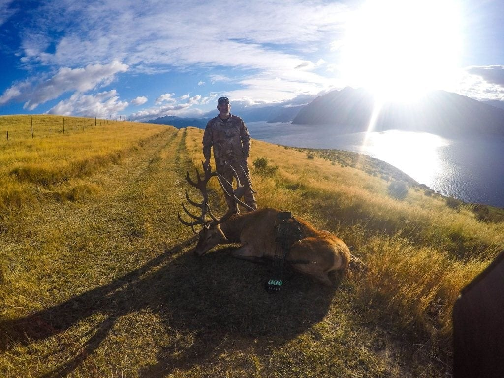 A gopro view of Matt with his stag
