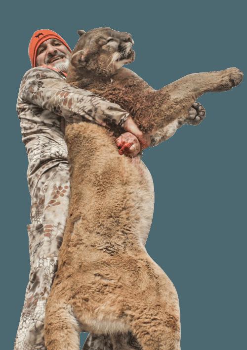 Matt Guedse with Mountain Lion