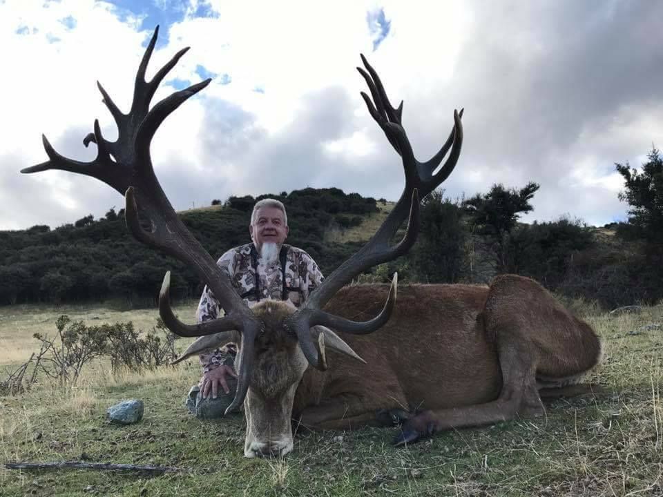 Chris with his huge stag