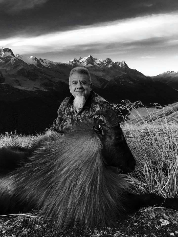 Chris with his Tahr