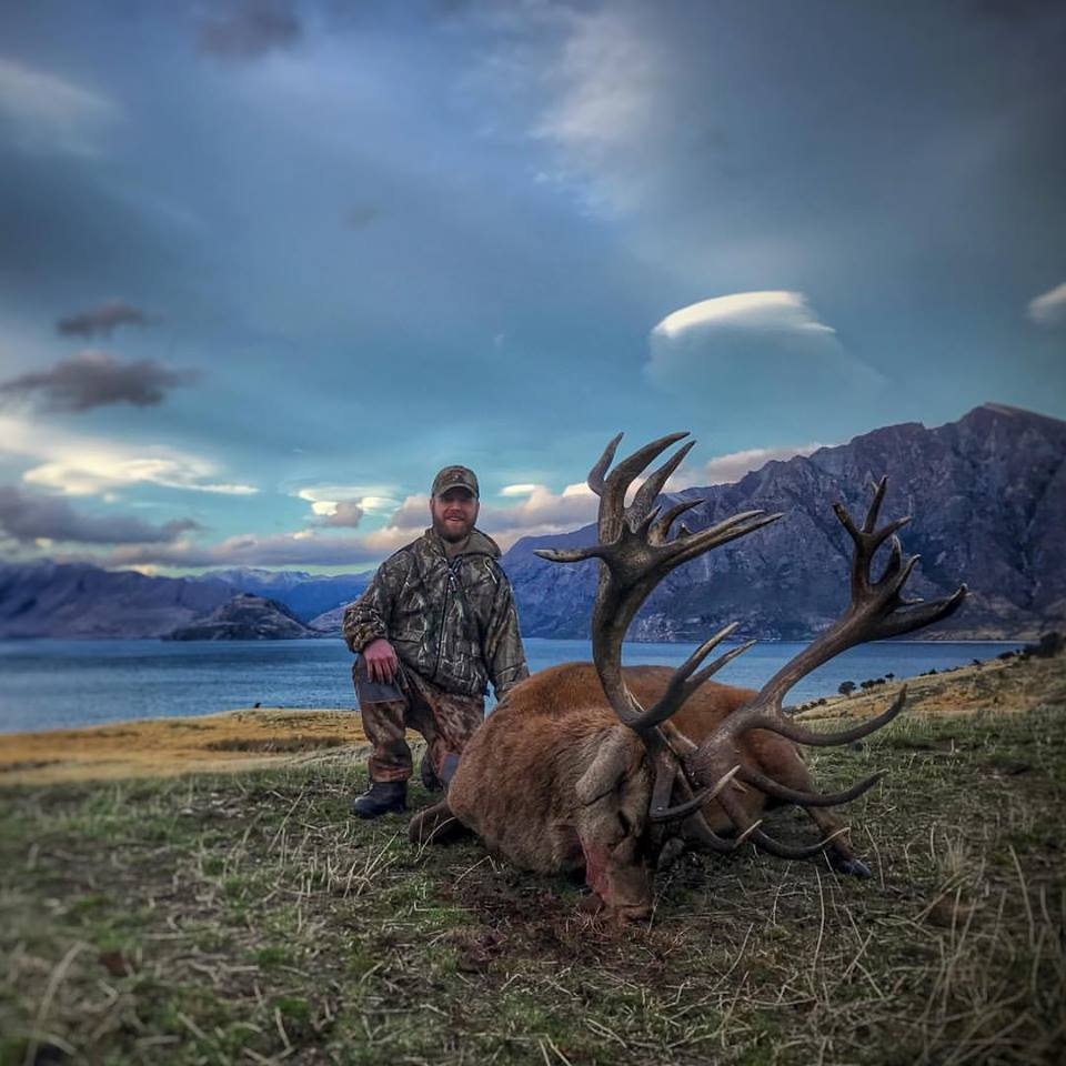 Scenic picture of New Zealand Jamie Stag