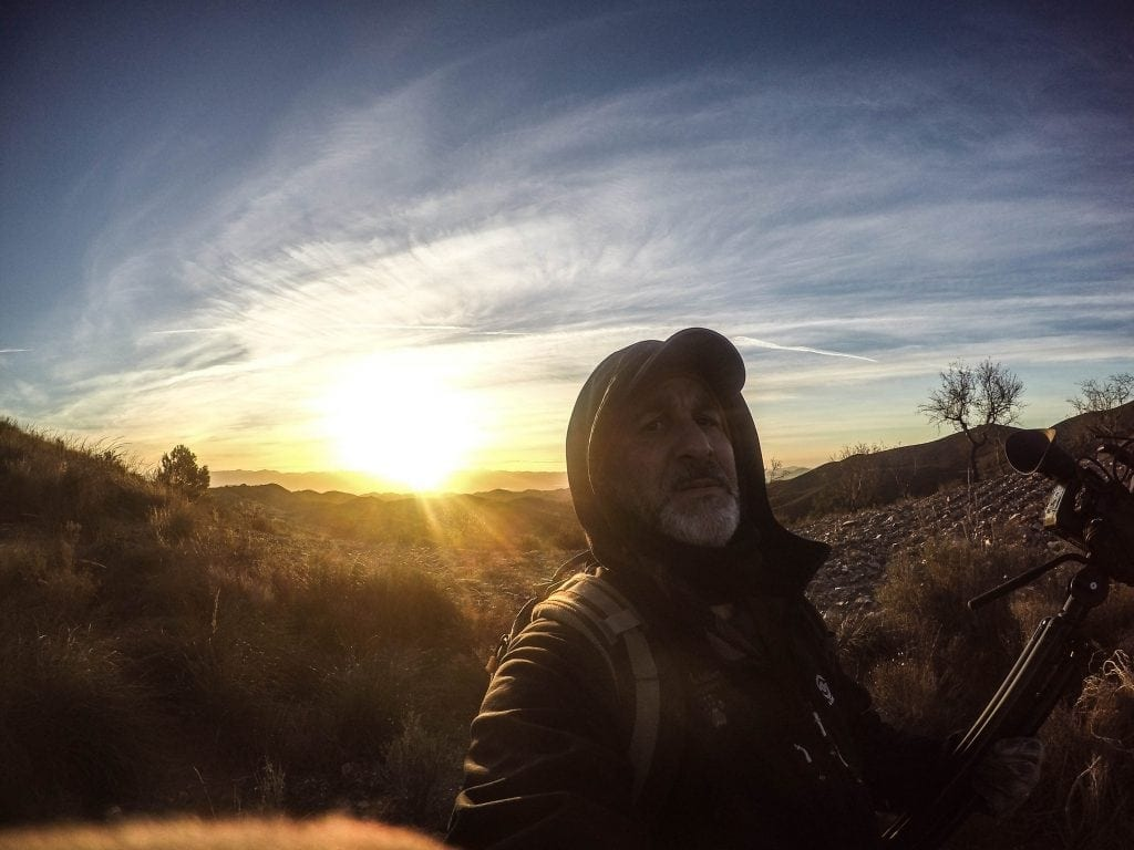 Matt on a cold morning in the mountains of Spain