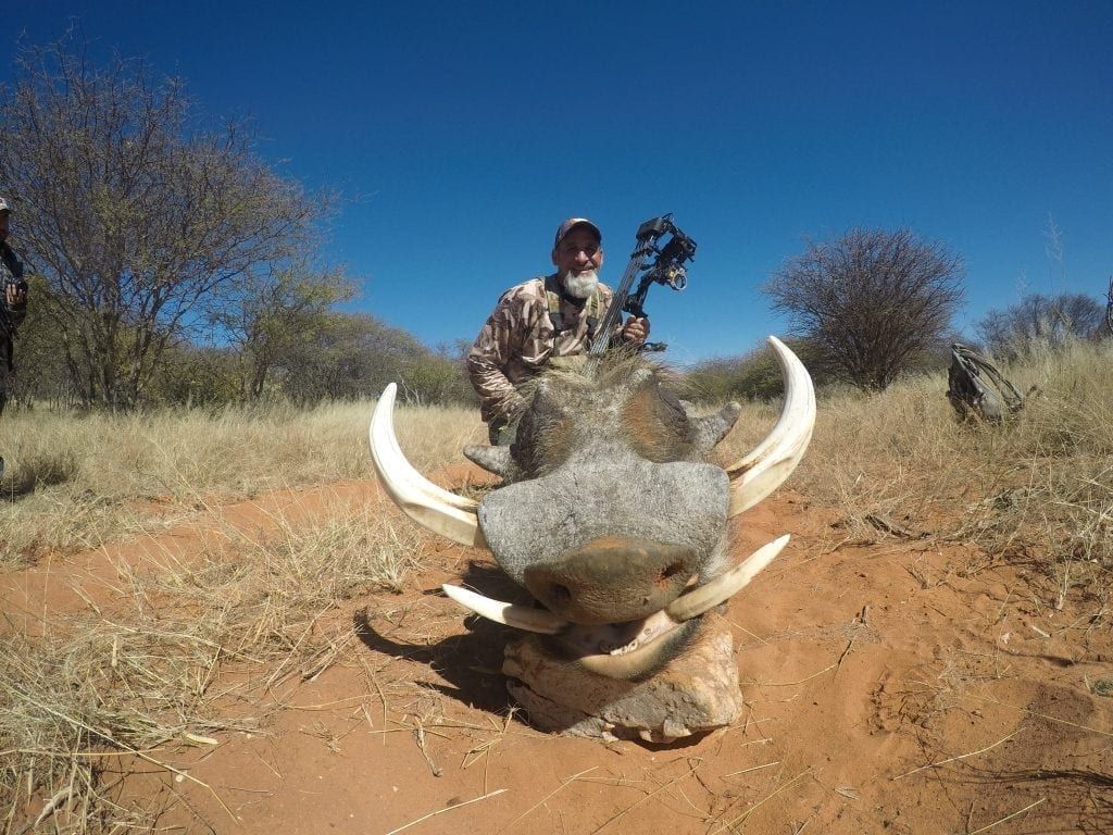 Matt with his warthog