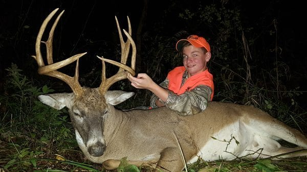 A huge buck taken by this youth hunter