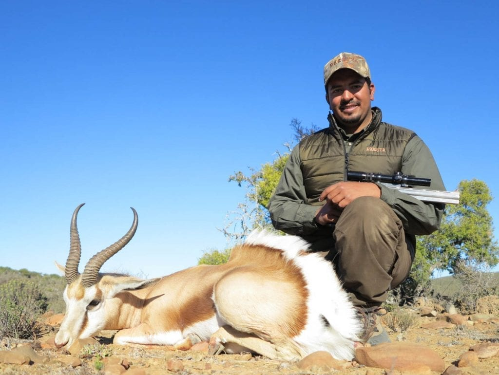 Khalid with his Springbok
